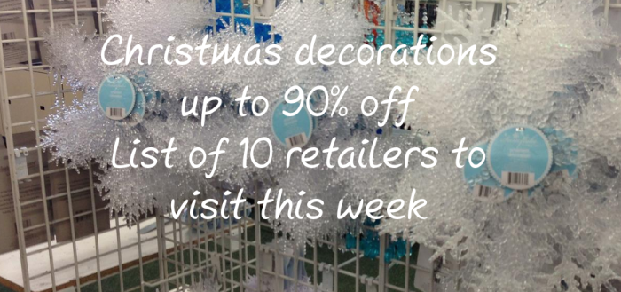 Discount round-up on Christmas decorations
