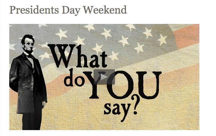 Free NPS presidents day