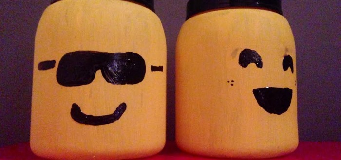 Make a LEGO mini figure head storage container out of protein shake