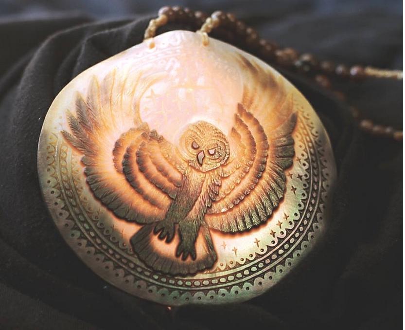 shell carving moundville