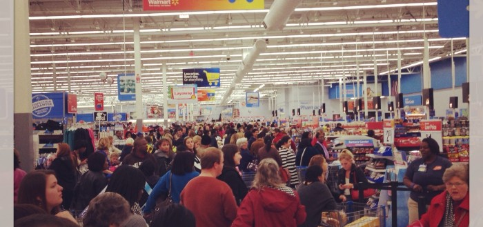Walmart Black Friday madness. Photo by Christie Dedman