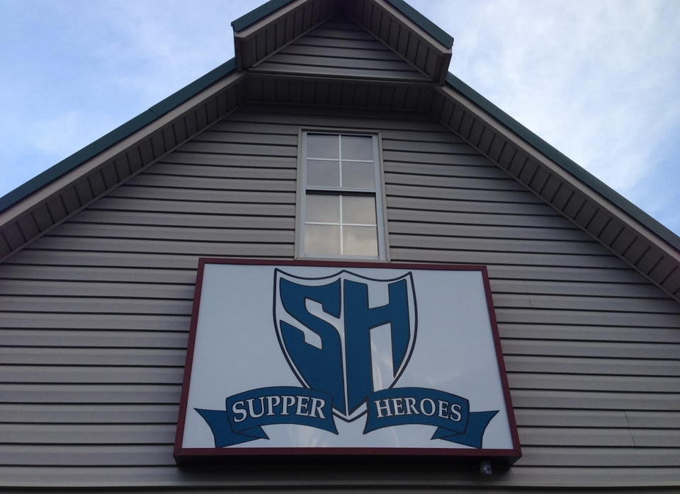 supper heroes sign