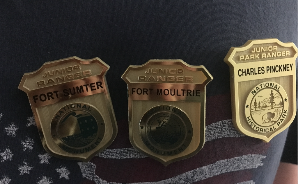 3 junior ranger badges Christie Dedman.jpg