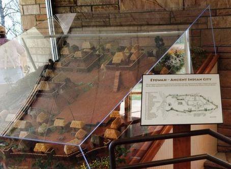 inside etowah mounds museum dedman