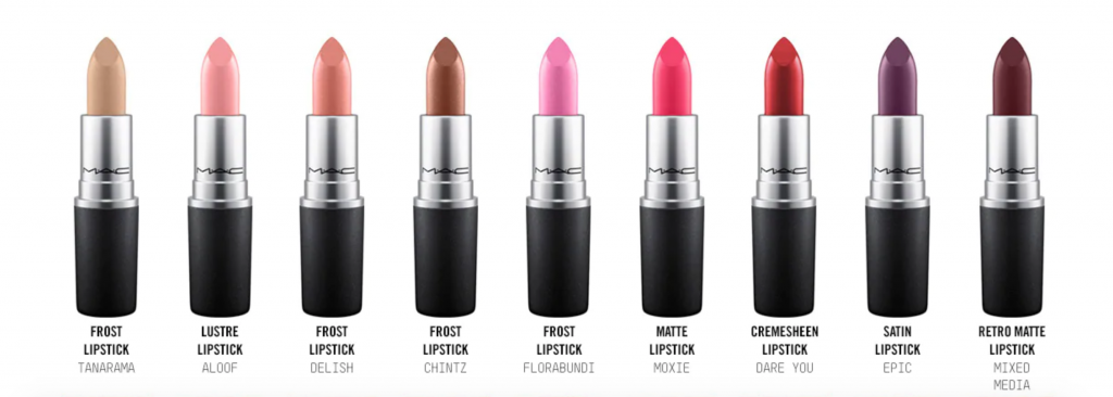 free mac lipstick options
