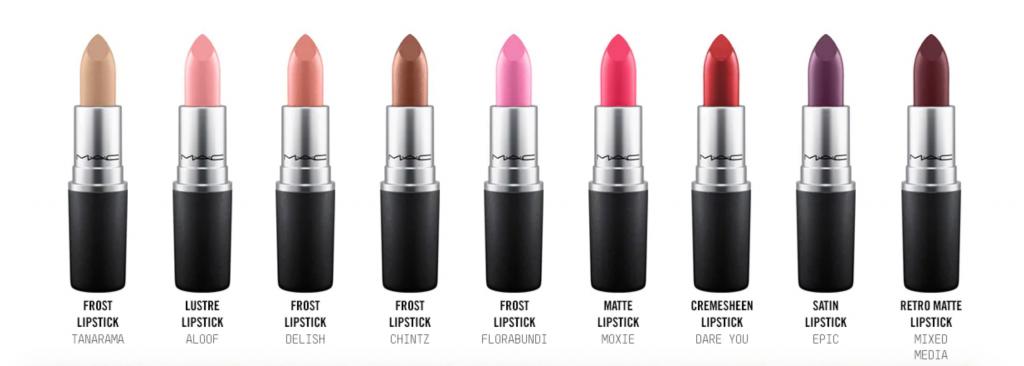 free mac lipstick options